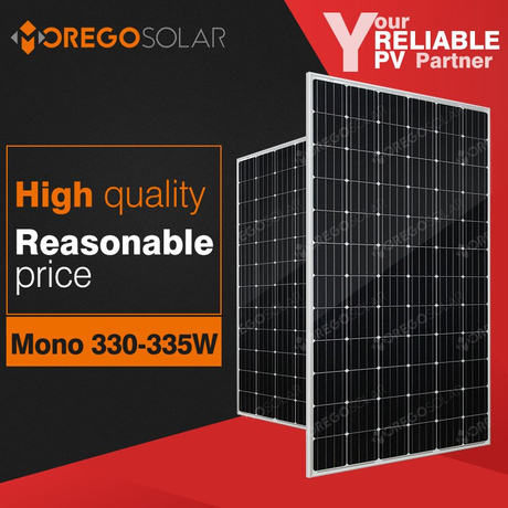 Moregosolar MG series a grade monocrystalline 340w 335w 300w solar panel price list for home use