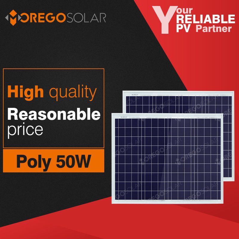 Moregosolar MG series 50w poly solar panel wholesale for street lighting