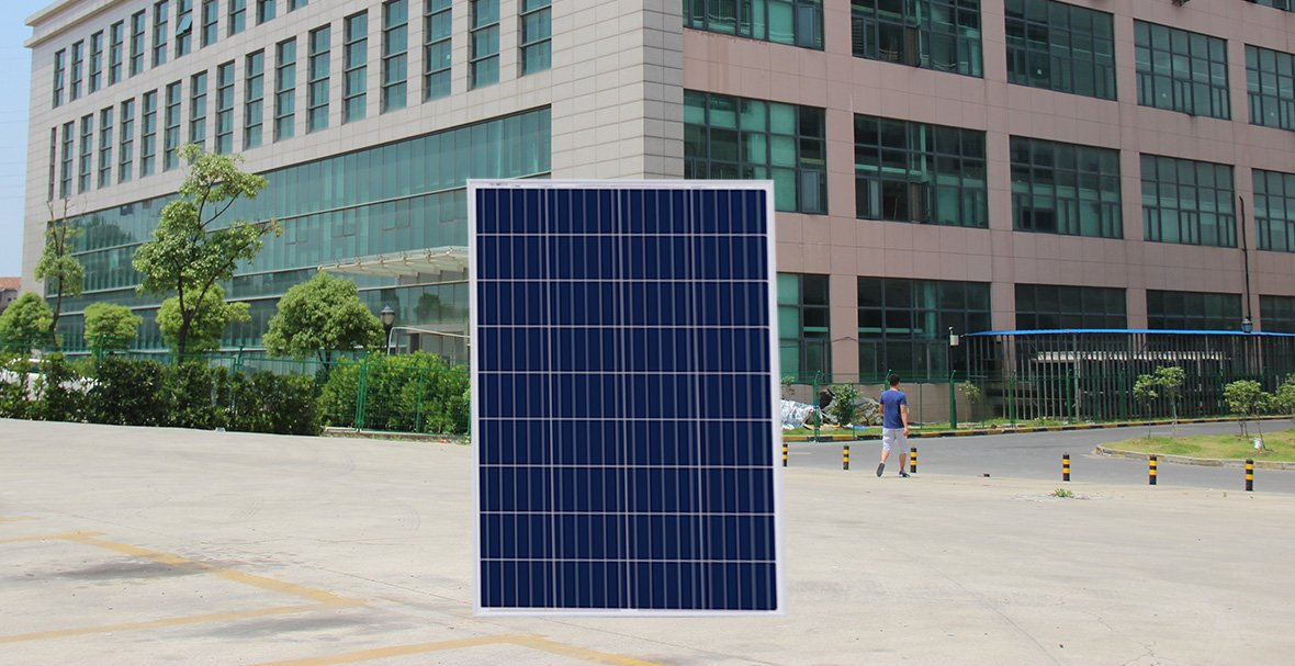 poly solar panel 110w real shot front side