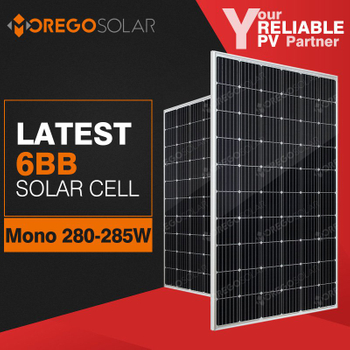 2018 high efficiency 285w 290w mono solar panel manufacturers in China